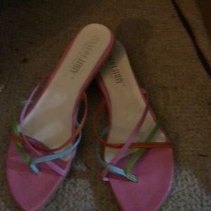 Sandals, there is a small scuff mark on bottom